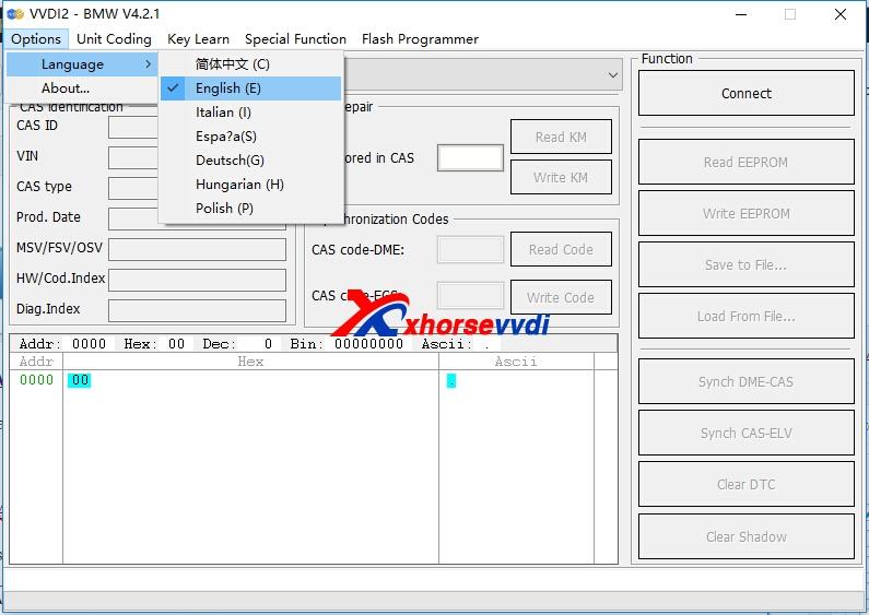 Xhorse VVDI2 Key Programmer Software Language | XhorseVVDI com