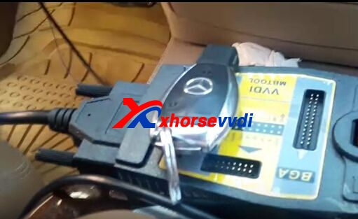 How to program Mercedes W221 BGA BE key by VVDI MB Tool