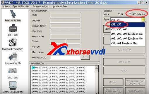 vvdi-mb-tool-renew-virgin-mercedes-nec-key-v57-steps-2