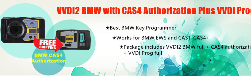 VVDI2 BMW with CAS4 Authorization and VVDI Prog Programmer