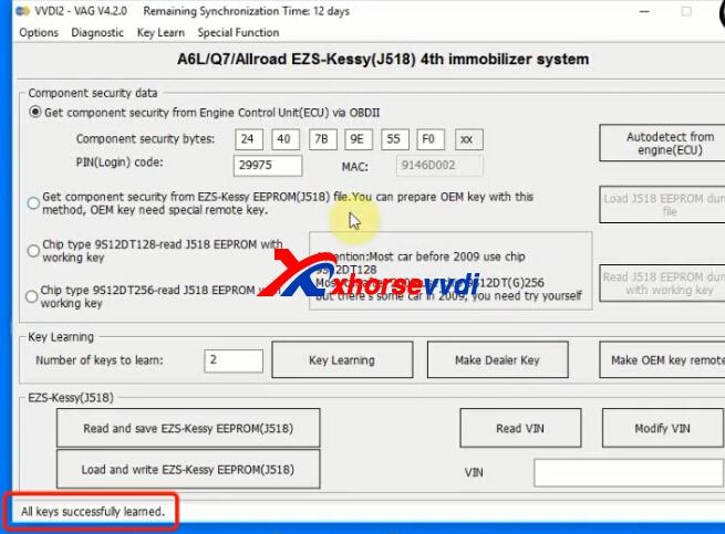 How to use VVDI2 Key Programmer Program Audi Q7 2007 key