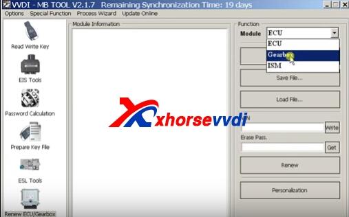 How to use VVDI MB Tool Renew Gearbox | XhorseVVDI com