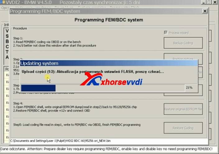 How to use VVDI2 BMW FEM BDC to Reset Mileage? | XhorseVVDI com