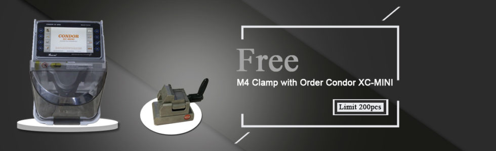 Condor xc-mini key cutting machine