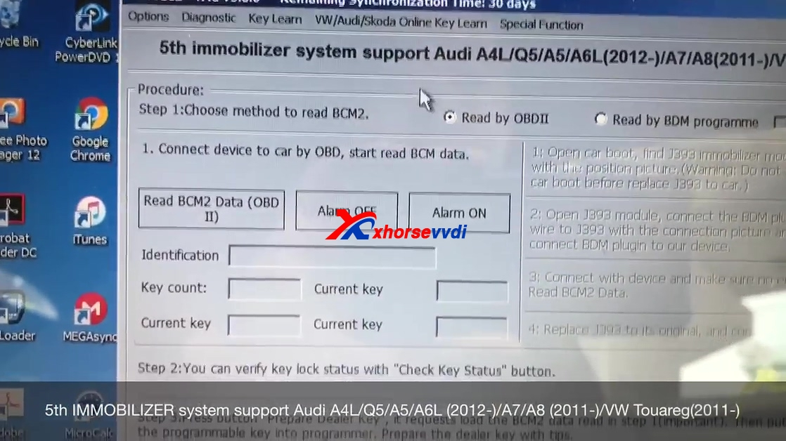 How to use VVDI2 to program smart remote Audi S5 2010