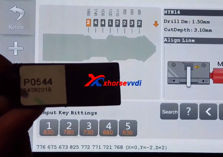 how-to-use-condor-xc-mini-plus-cut-hyundai-ix35-key-8