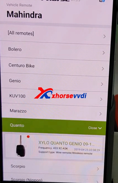 how-to-use-mini-key-tool-generate-mahindra-xylo-id46-chip-with-vvdi-super-remote2