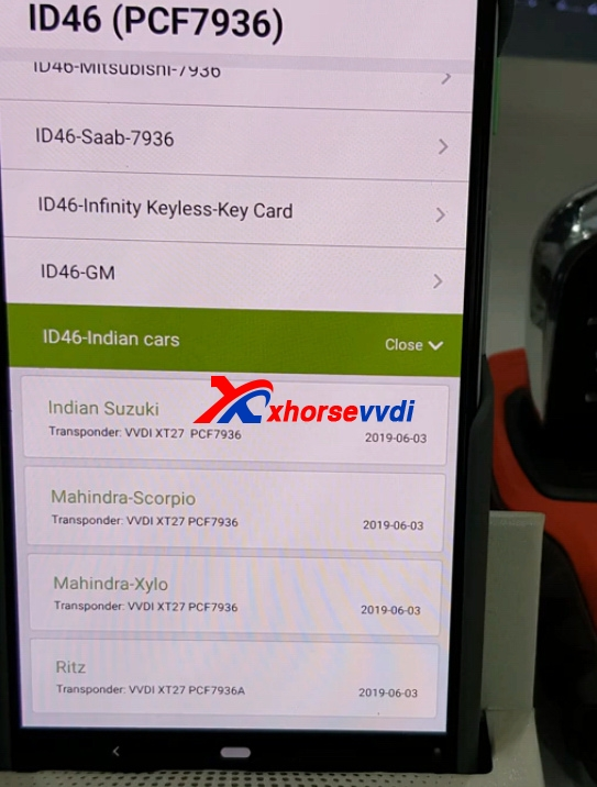 how-to-use-mini-key-tool-generate-mahindra-xylo-id46-chip-with-vvdi-super-remote7