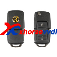 XHORSE-XKB501EN-Volkswagen-B5-Style-Special-Remote-Key-3-Buttons