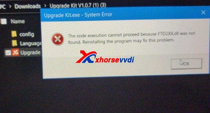 xhorse-update-kit-software-error