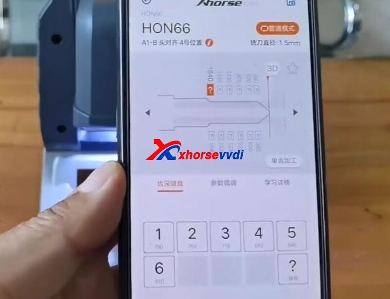 how-to-use-xhorse-panda-cut-hon66-key-10