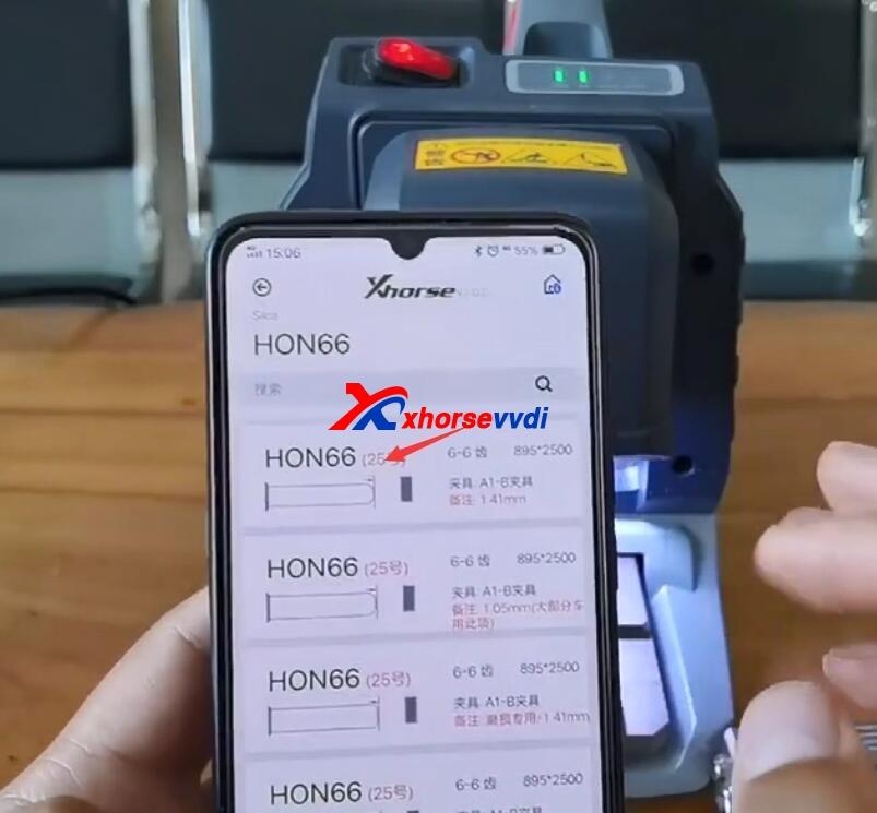how-to-use-xhorse-panda-cut-hon66-key-4