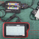 Vvdi Key Tool Plus Reads Cas4 Key On Bench With Godiag Gt100 01