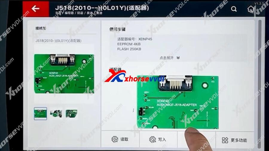 xhorse-vvdi-key-tool-plus-with-xdnp45-adapter-read-audi-j518-ok-10